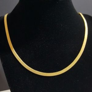 Jewelry - Ion Plated Yellow Gold Stainless Steel Mesh Chain